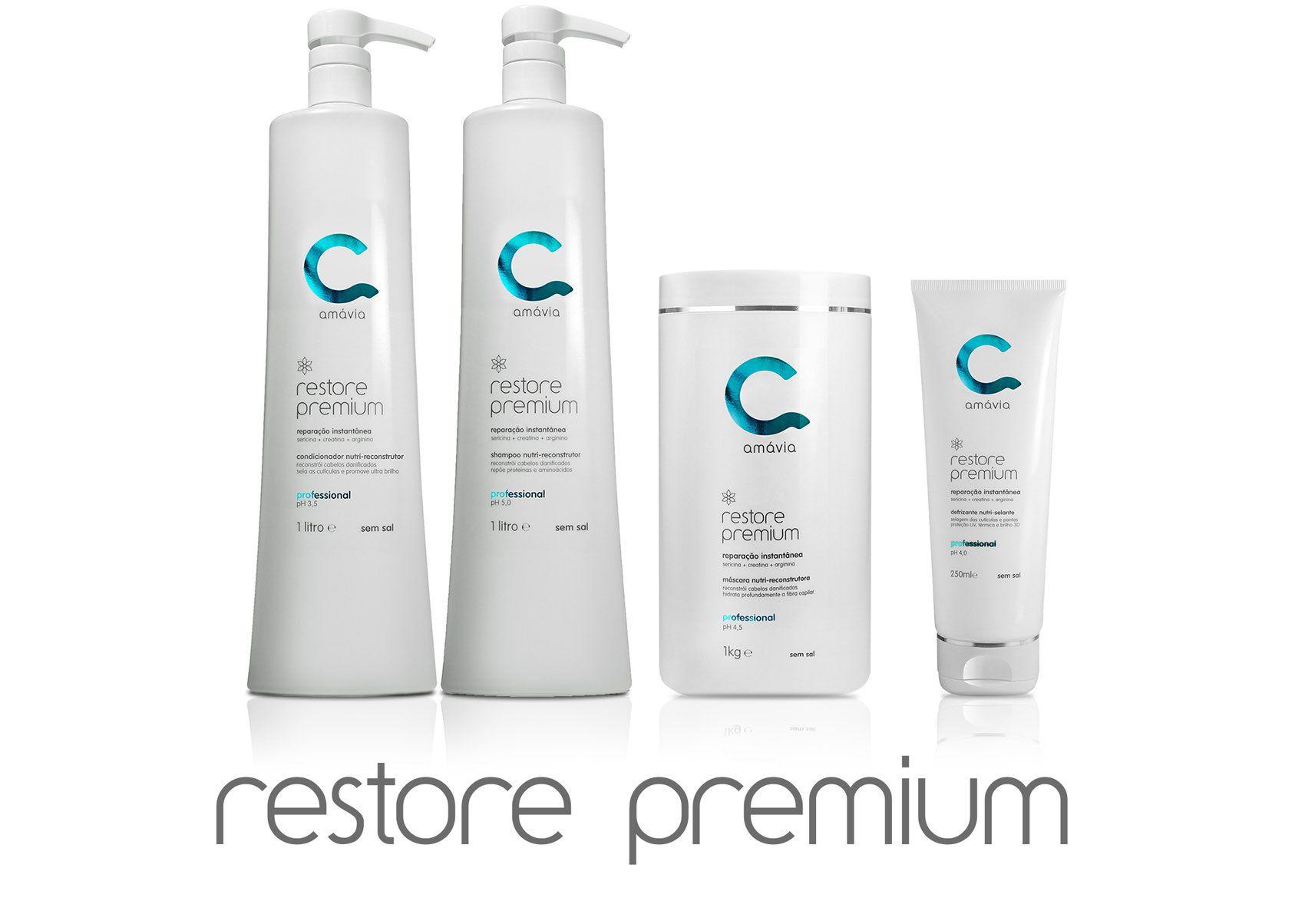 Amávia - Kit Restore Premium Reconstrução Capilar