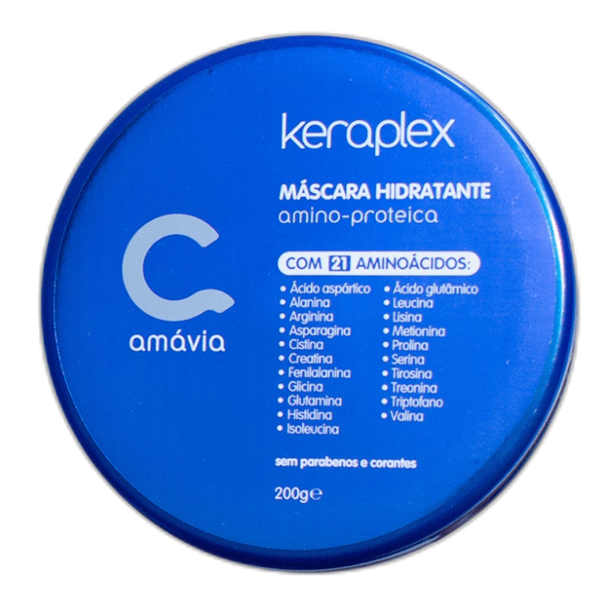 Mascara Amino-Proteica Keraplex Amavia Com 21 Aminoácidos 200g