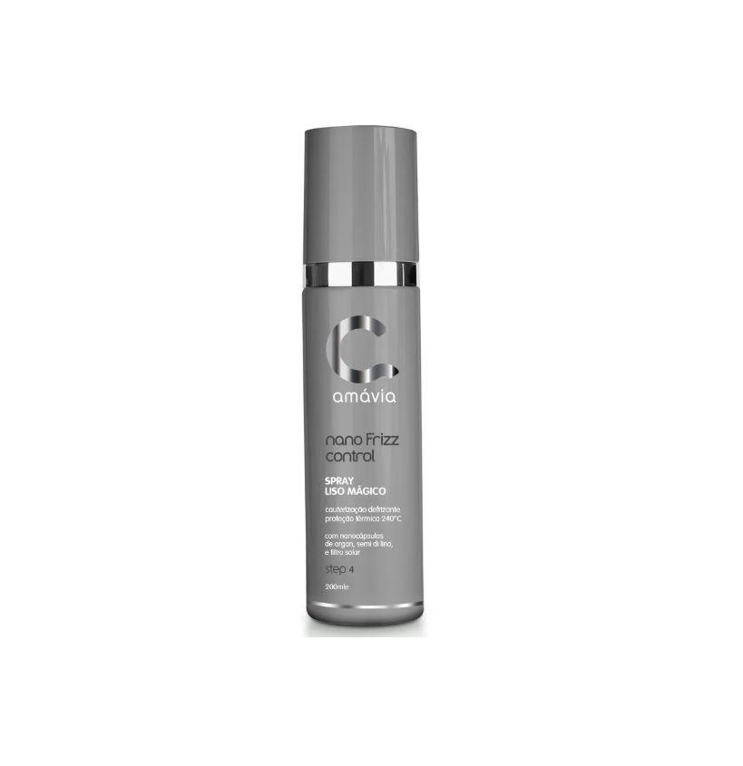 Spray Liso Magico Nano Frizz Control Amávia 200ml