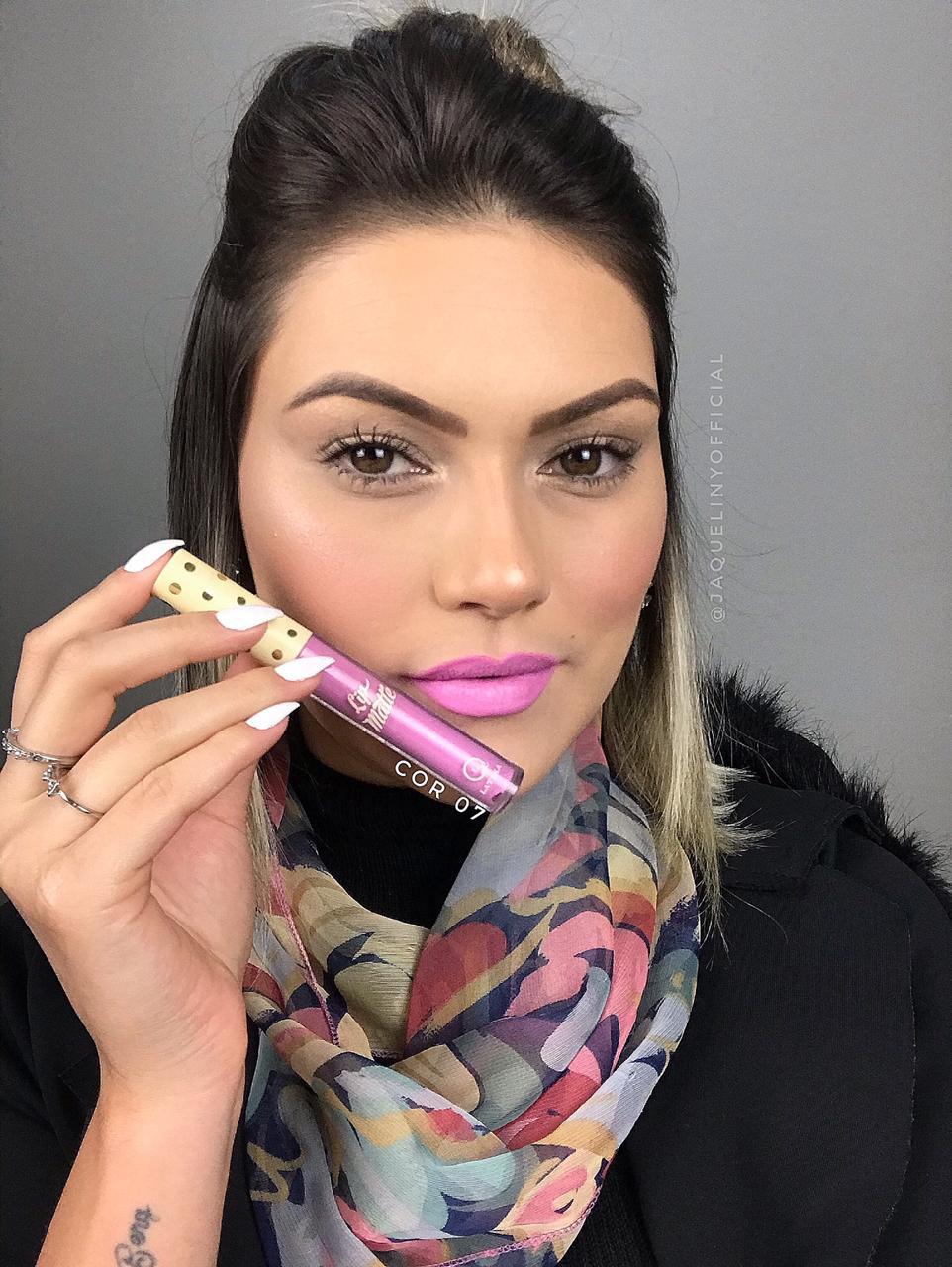 Batom Líquido Latika Lip Matte Rosa N 07