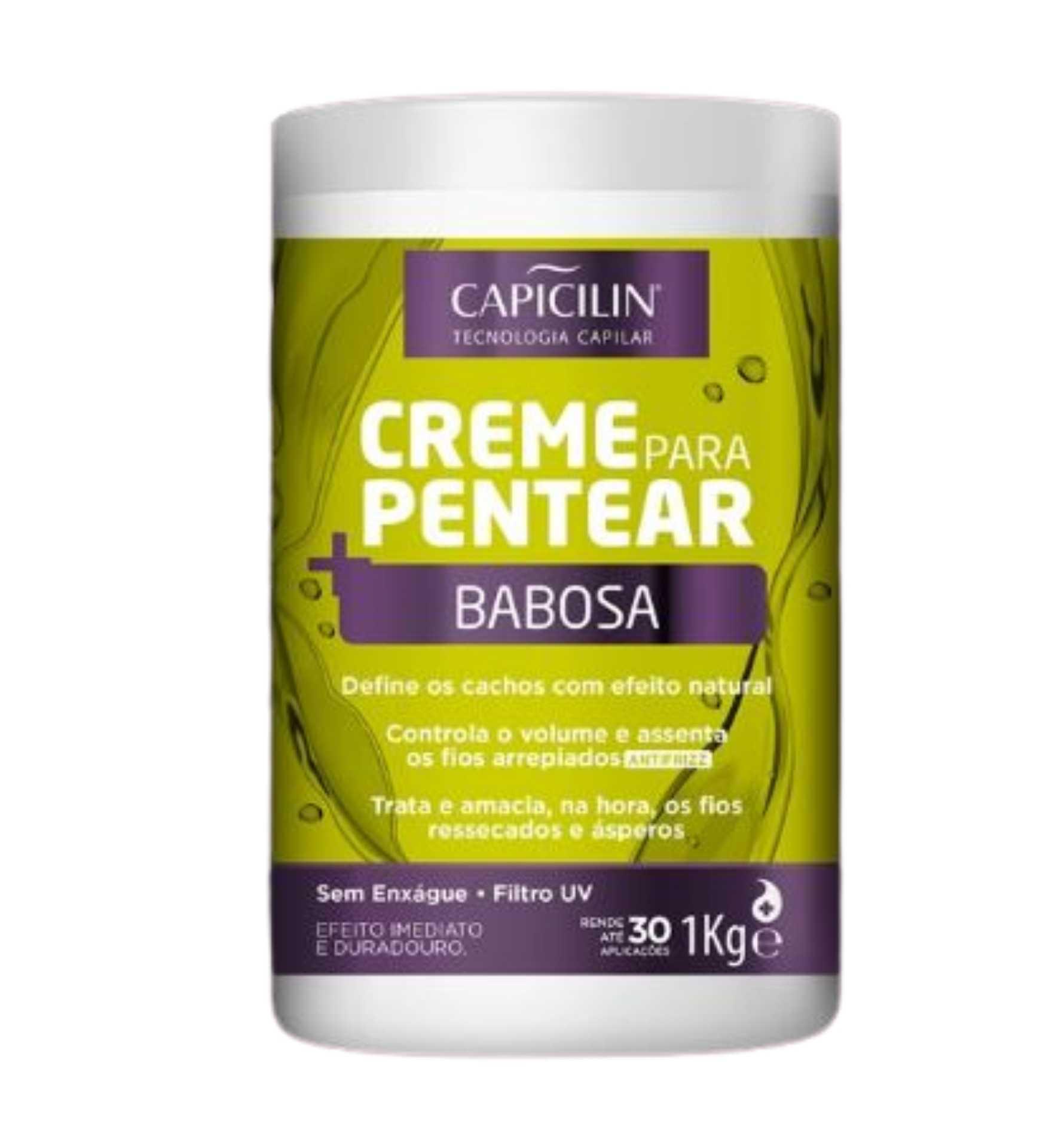 Capicilin - CREME DE PENTEAR - Babosa 1kg
