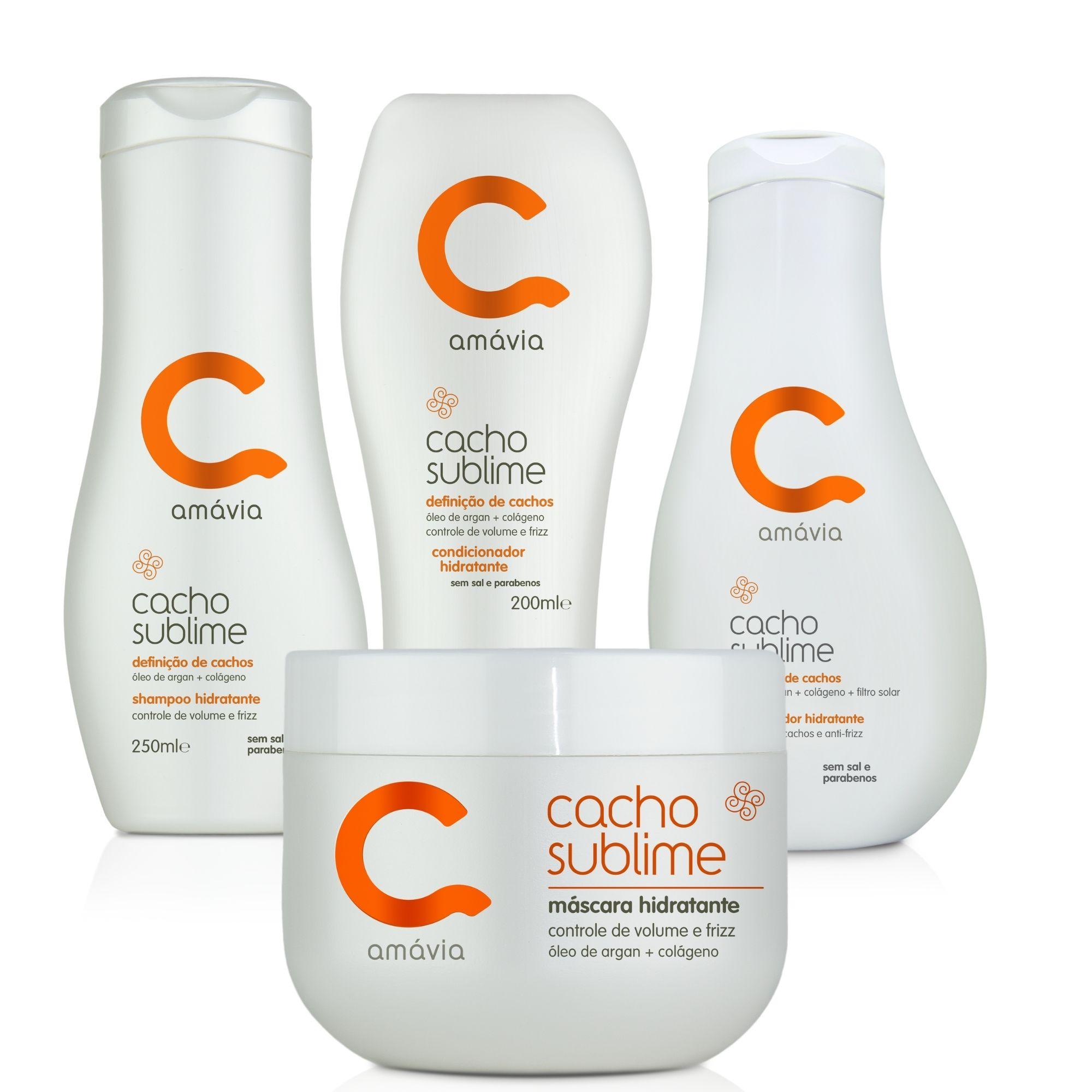 Kit Hidratante Cacho Sublime (Shampoo + Condicionador + Máscara + Umidificador)