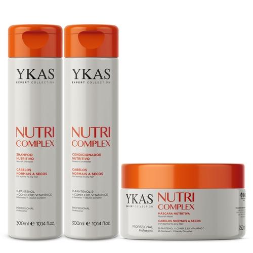 Kit Ykas Nutri Complex Shampoo + Condicionador 300ml + Máscara 250g