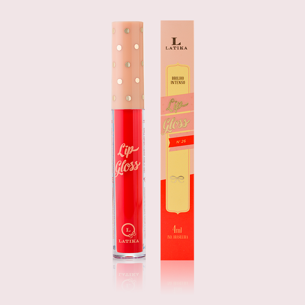 Batom Líquido Latika Lip Gloss Latika - N 26