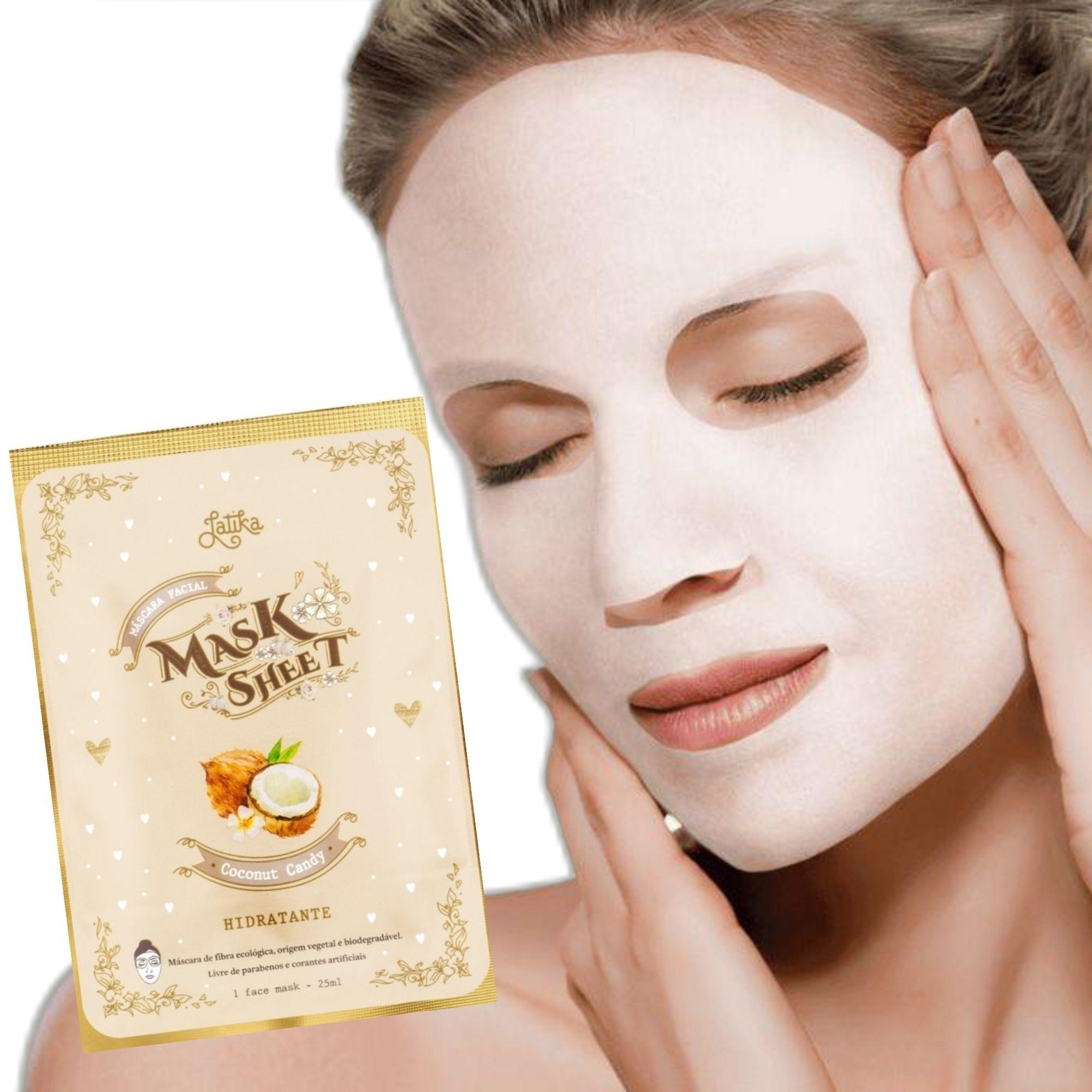 Máscara Facial Latika Mask Sheet Coconut Candy  25ml