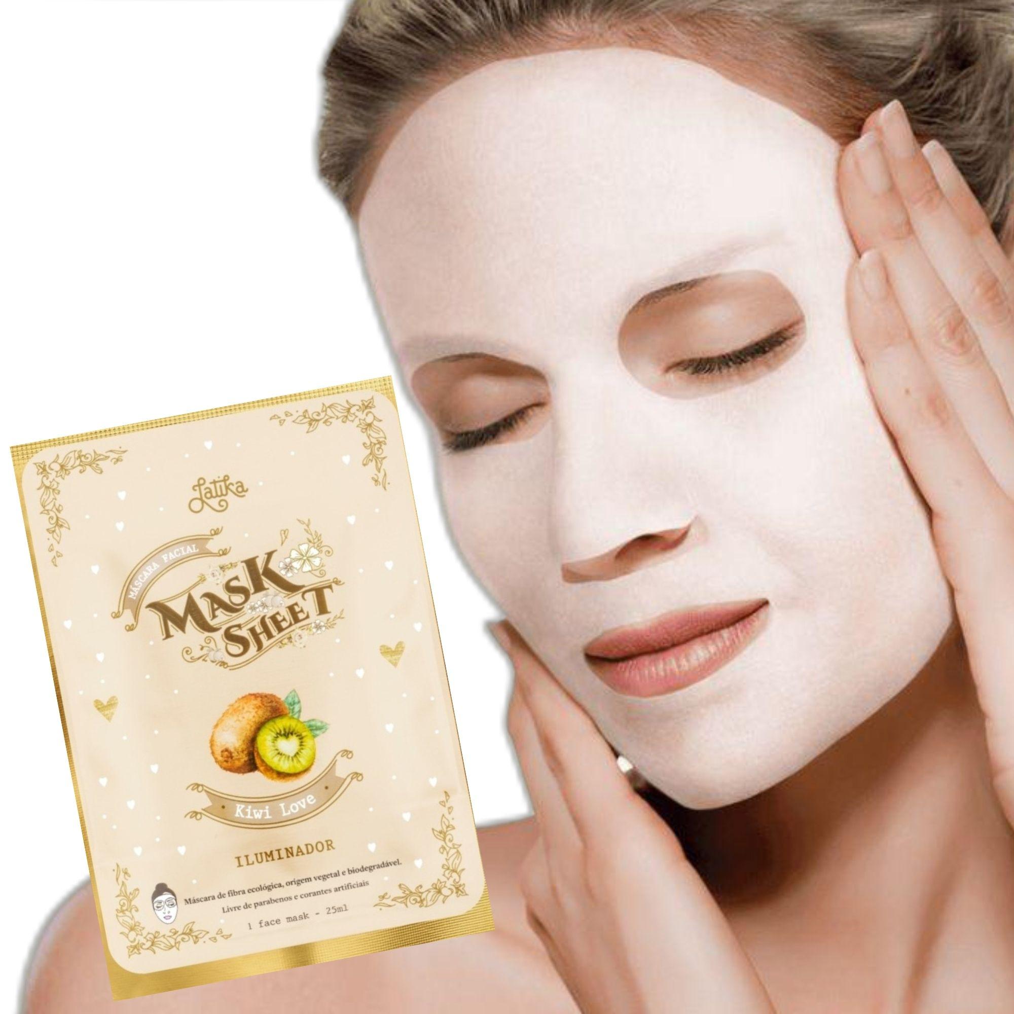 Máscara Facial Latika Mask Sheet Kiwi Love 25ml