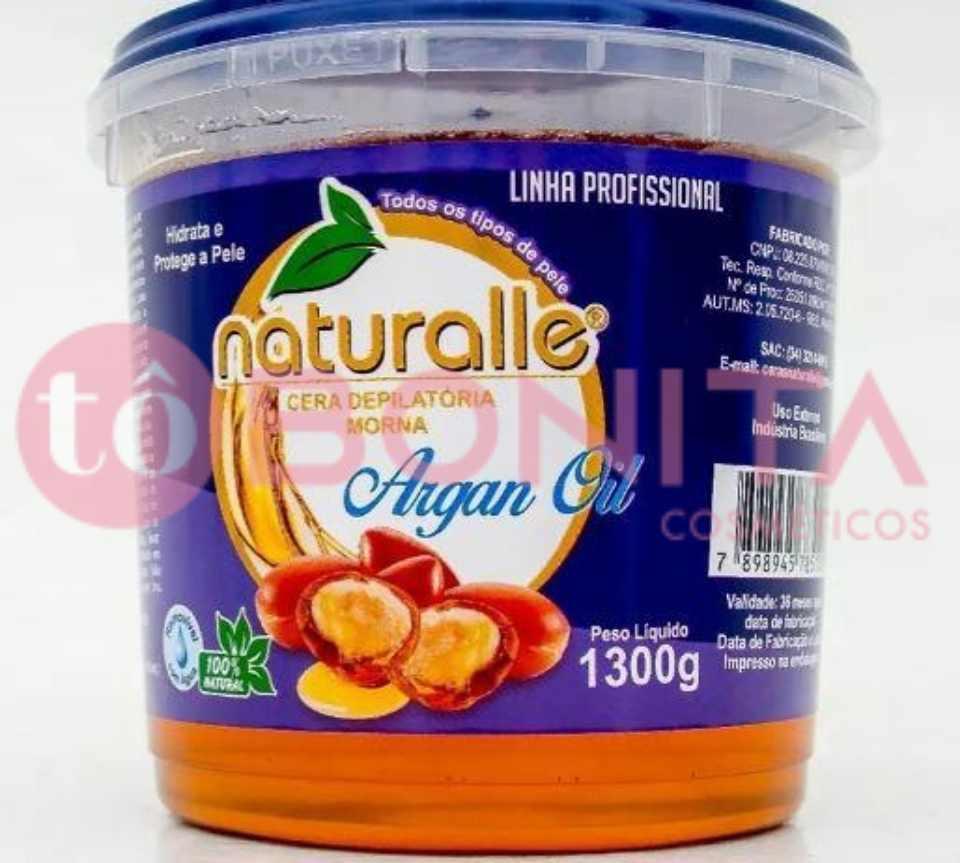 Naturalle - Cera Depilatória - Argan 1300g