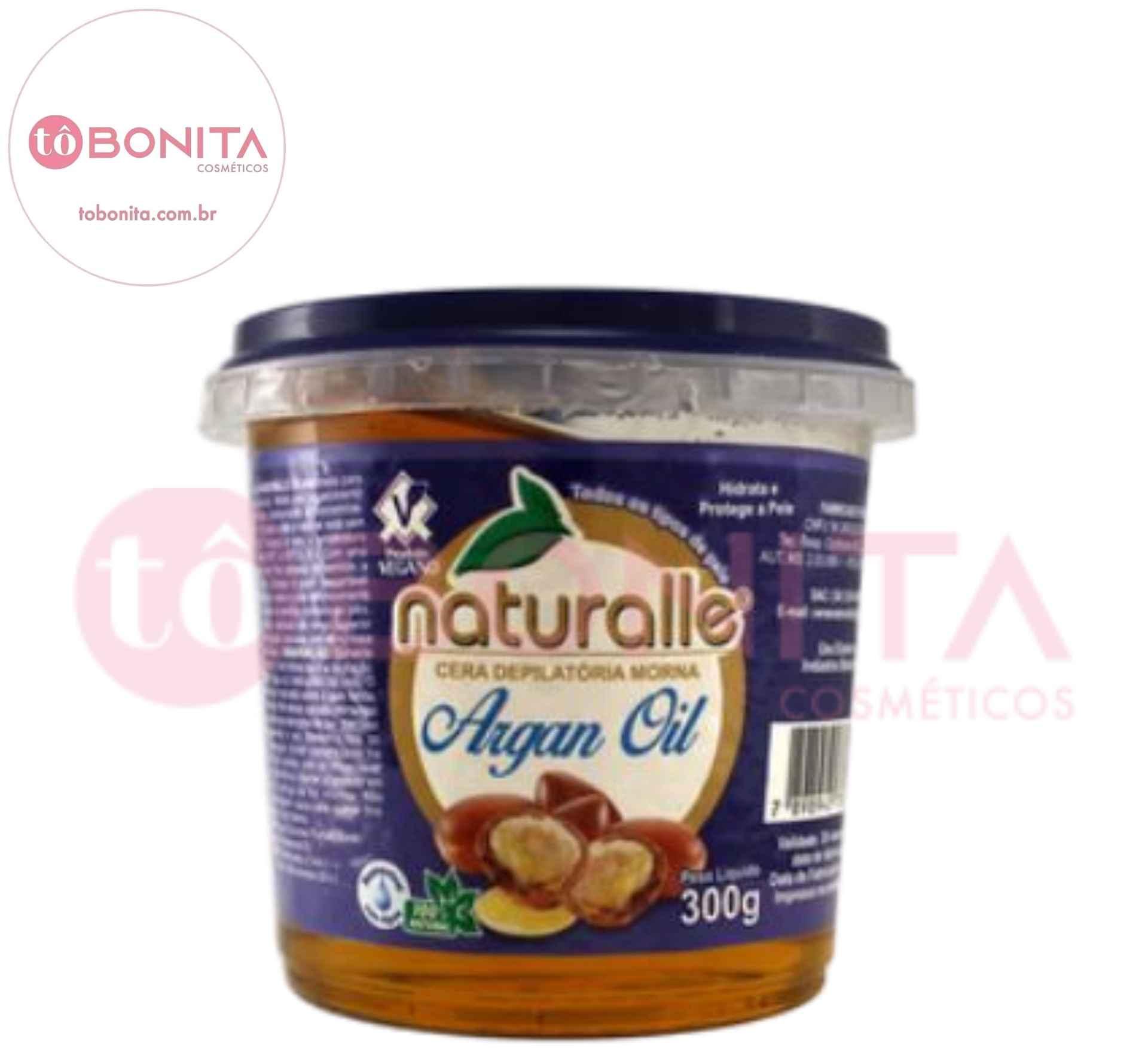 Naturalle - Cera Depilatória - Argan 300g