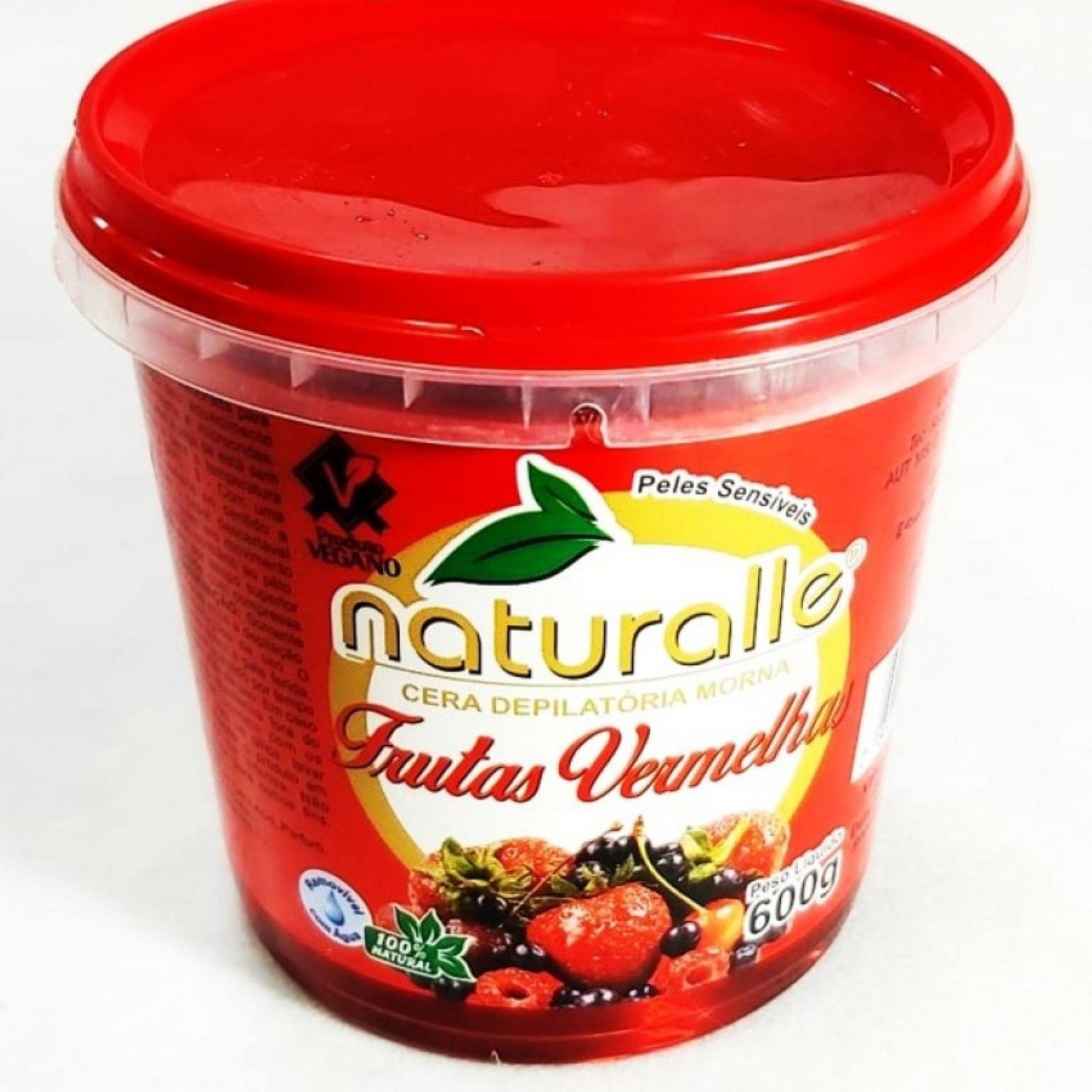 Naturalle - Cera Depilatoria Frutas Vermelhas 600g
