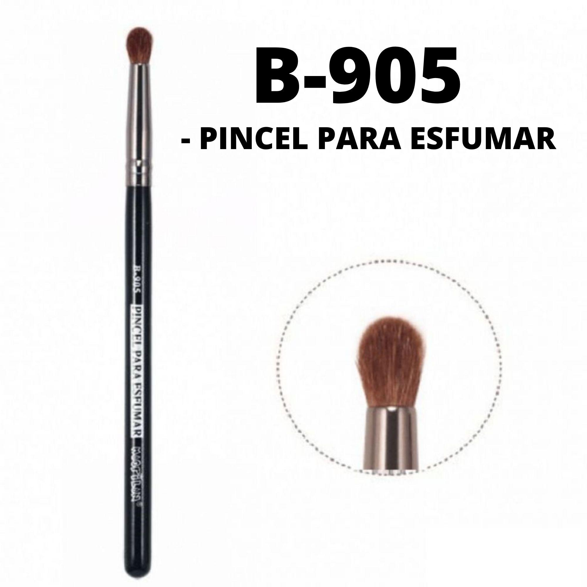 Pincel Para Esfumar B905 Linha Black Profissional Macrilan