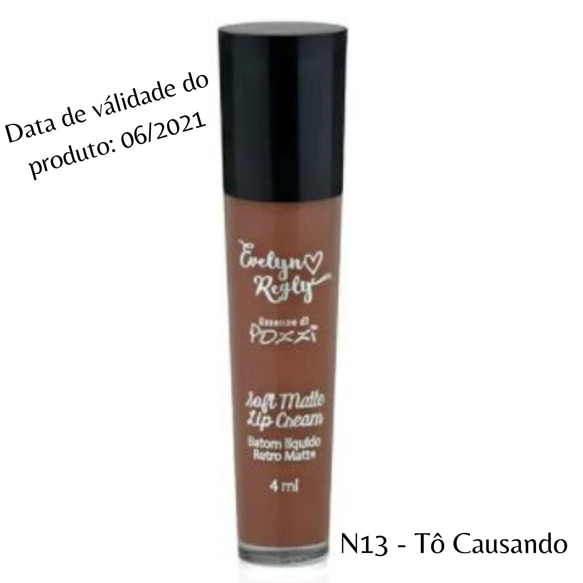 Pozzi - Batom Liquido  Matte  N° 13 To Causando - Valídade 06/2021