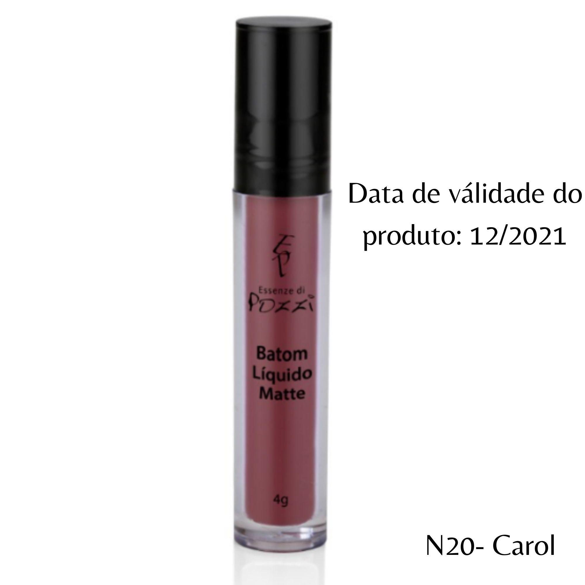 Pozzi - Batom Liquido Matte N° 20 Carol - Válidade 11/2021