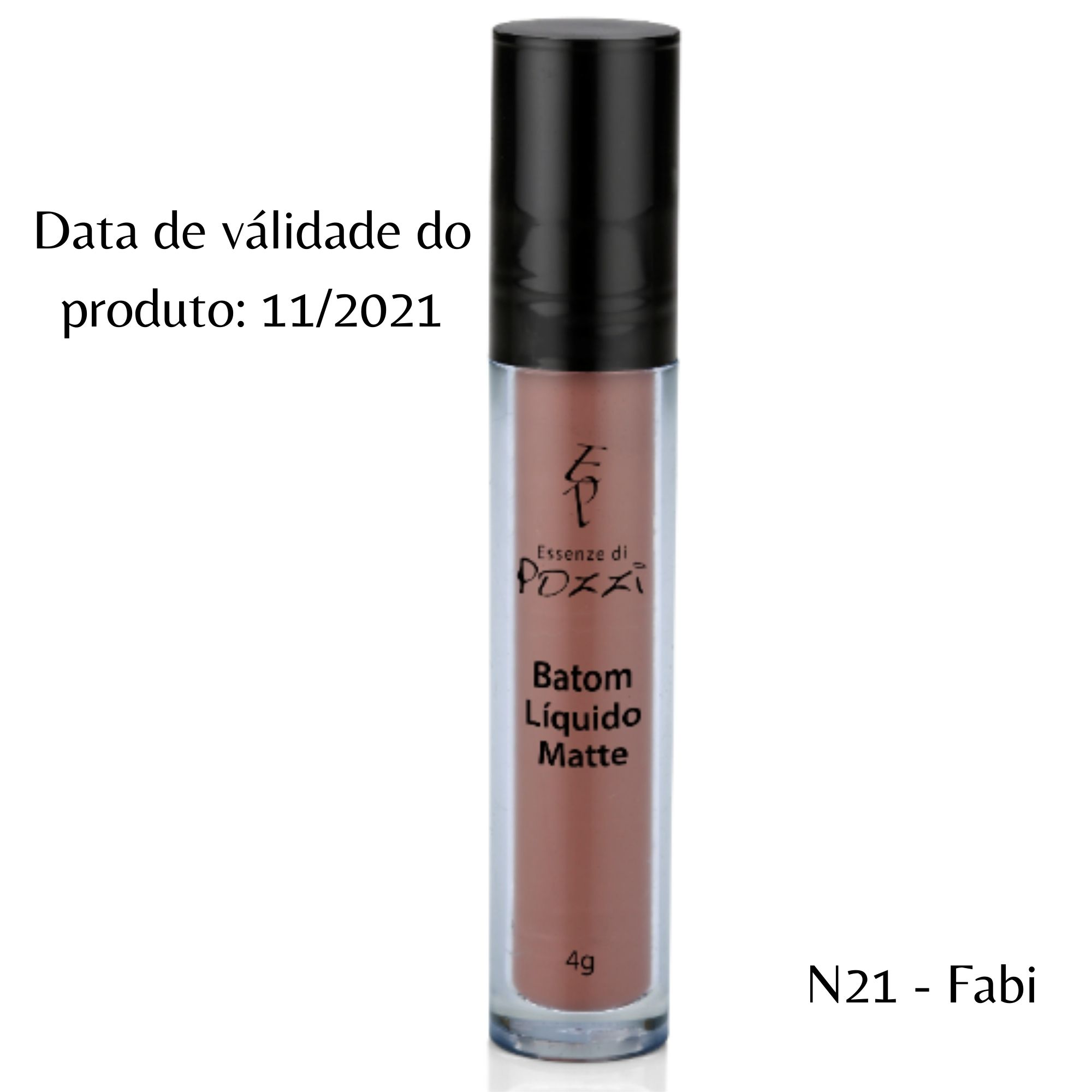 Pozzi - Batom Liquido Matte N° 21 Fabi - Válidade 11/2021