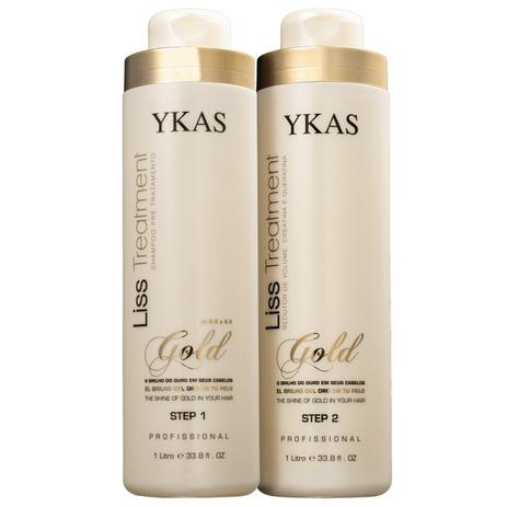 Ykas Gold Escova Progressiva Kit Ouro (2 x 1000 ml)