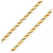 Corrente Corda Três Cores em Ouro 18k com 45cm