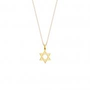 Pingente Estrela de Davi em Ouro 18k Amarelo