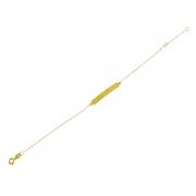 Pulseira Cartier Infantil Chapinha em Ouro 18K Amarelo