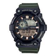 Relógio Casio Esporte Preto e Verde Digital AEQ-200W-3AVDF