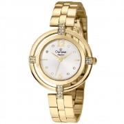 Relógio Champion Feminino Dourado com Cristais na Caixa CN25421H