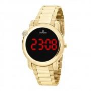 Relógio Champion Feminino Dourado Digital CH48064H
