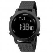 Relógio Champion Masculino Preto Fundo Negativo CH40062D
