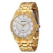 Relógio Seculus Feminino Dourado 28238LPSPDS3