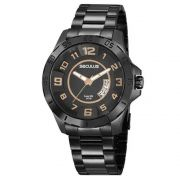 Relógio Seculus Masculino Preto Long Life 20743GPSVPA2