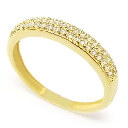 Anel Aparador em Ouro 18K Amarelo com Diamantes