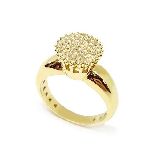 Anel Chuveiro em Ouro 18K Amarelo com Diamantes