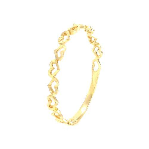 Anel Corações em Ouro 18K Amarelo