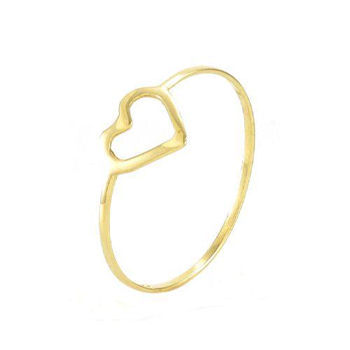 Anel Coração Pequeno em Ouro 18K