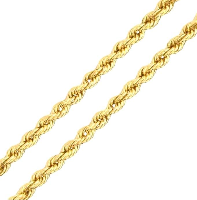 Corrente Corda em Ouro 18k Amarelo com 45cm