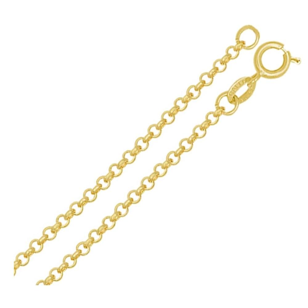 Corrente Elo Português em Ouro 18k Amarelo com 45cm