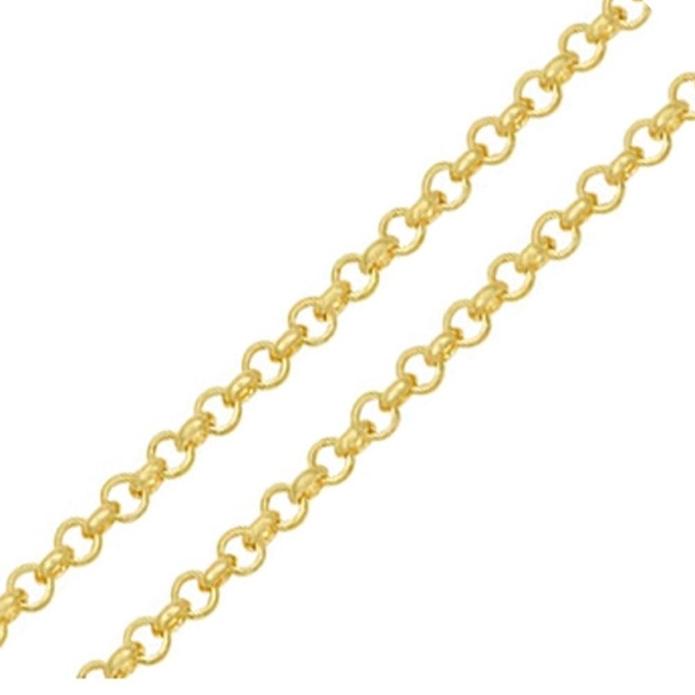 Corrente Elo Português em Ouro 18k Amarelo com 45cm - PMR45/550