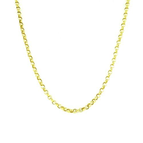 Corrente Elo Português em Ouro 18k Amarelo com 50cm
