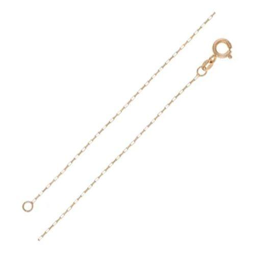 Corrente Masculina Veneziana Longa em Ouro 18K Amarelo com 60cm