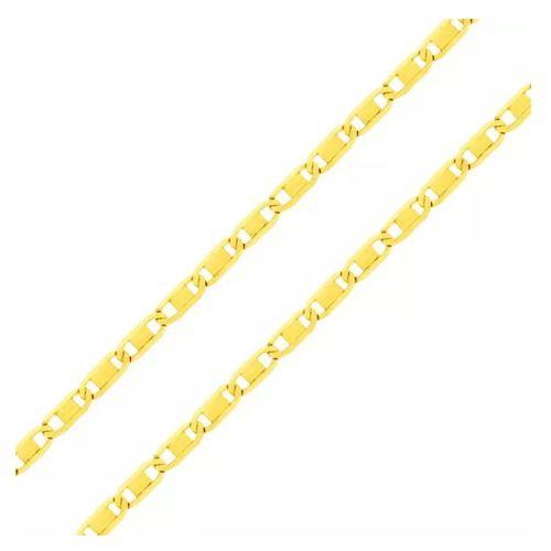 Corrente Piastrine em Ouro 18K Amarelo com 50cm