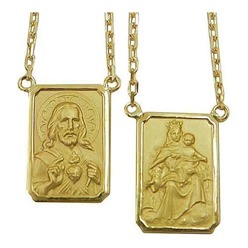 Escapulário em Ouro 18K Amarelo Corrente Cartier 60cm