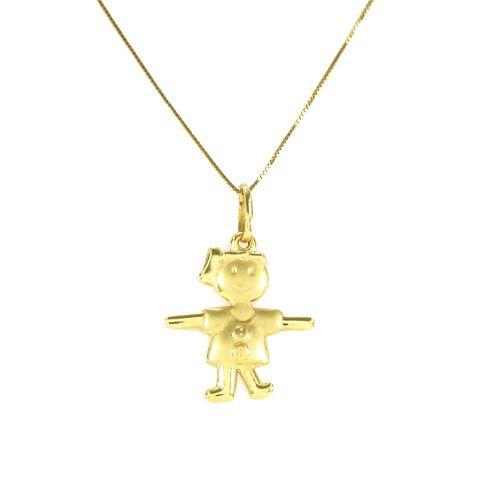 Pingente Menina de Braços Abertos em Ouro 18K Amarelo