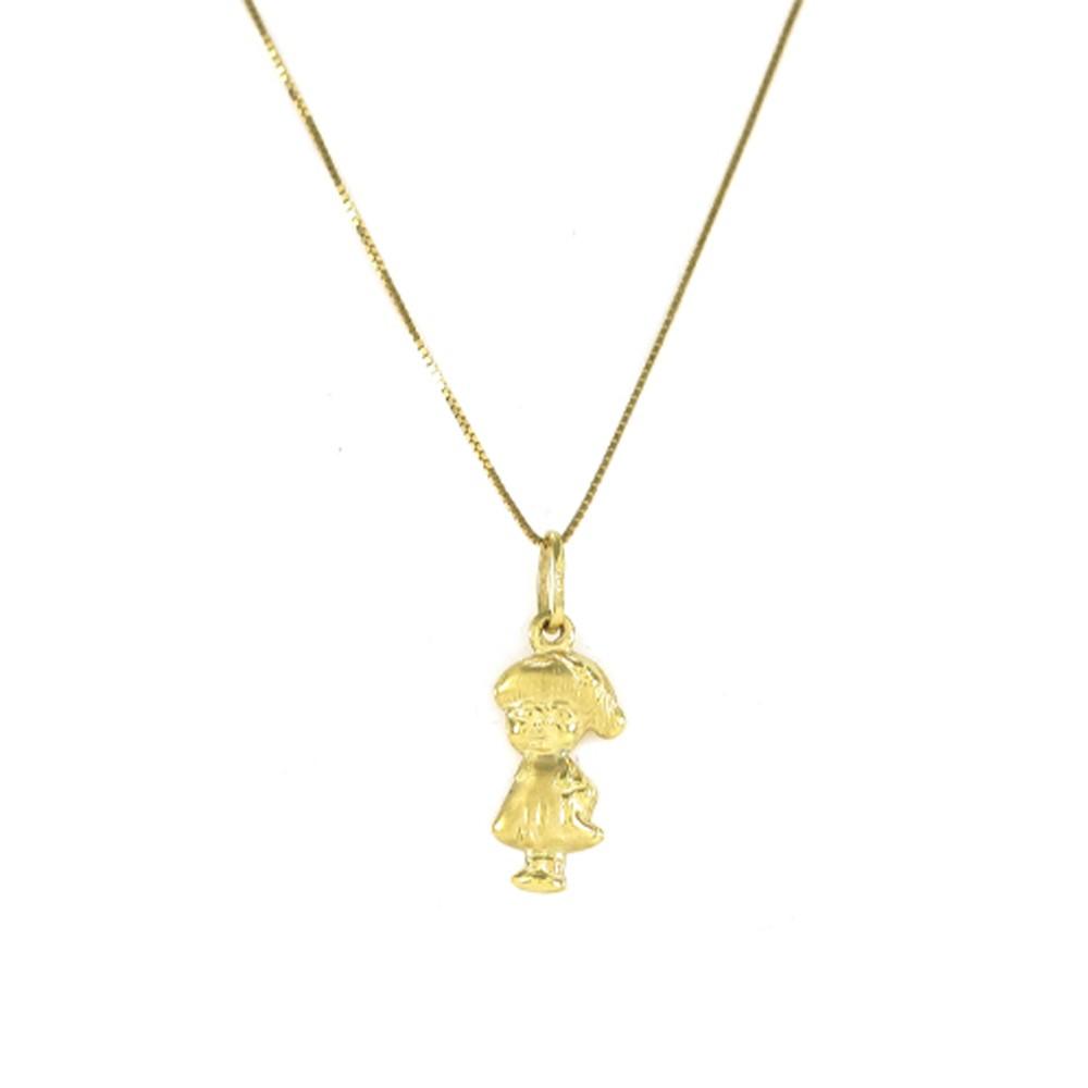 Pingente Menina em Ouro 18k Amarelo - PMR050