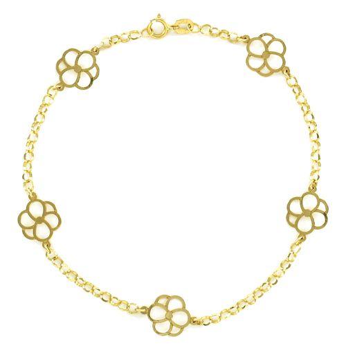 Pulseira Feminina em Ouro 18K Amarelo