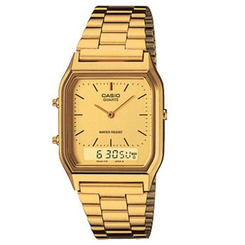 Relógio Casio Unissex Digital Vintage AQ-230GA-9BMQ