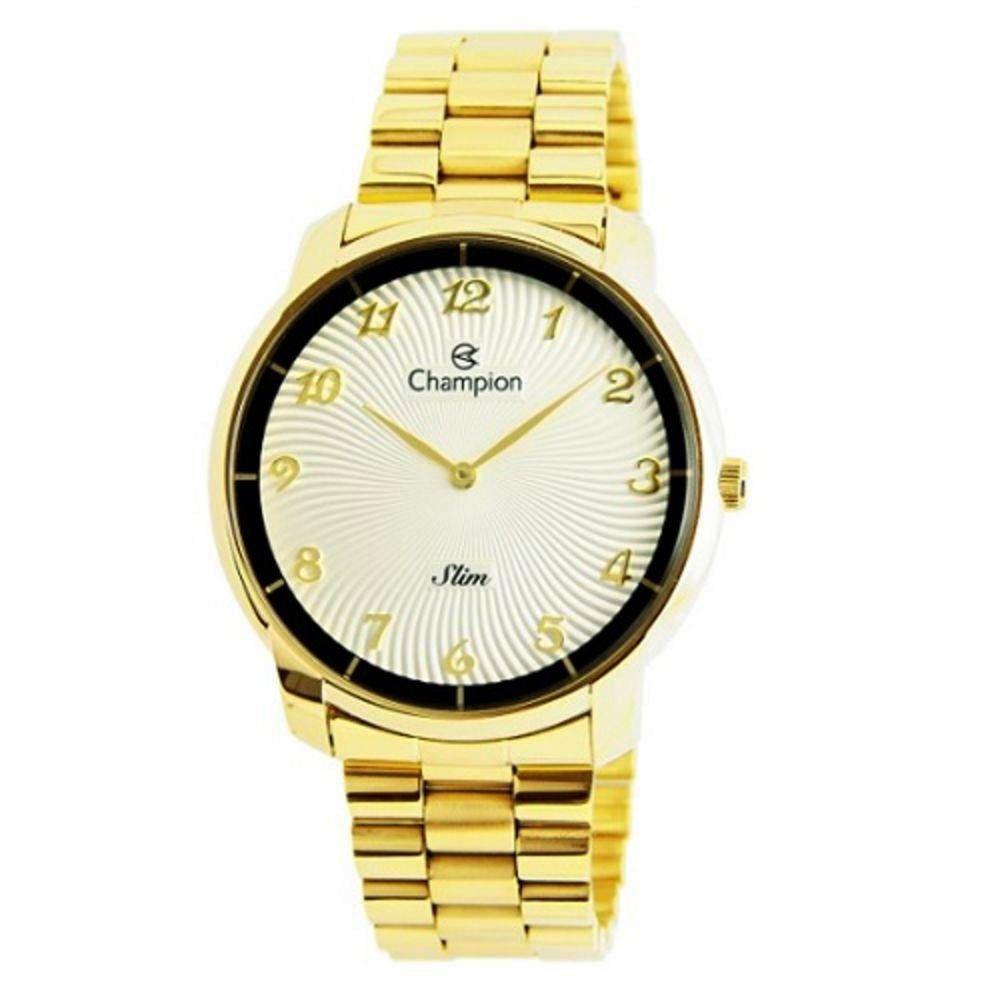 Relógio Champion Dourado Unisex Slim CA21802H