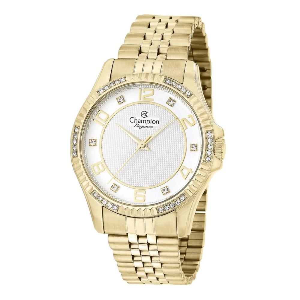 Relógio Champion Feminino Dourado com Cristais CN25805W