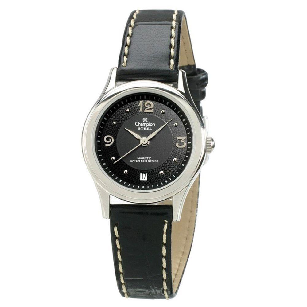 Relógio Champion Feminino Pulseira de Couro CA28725T