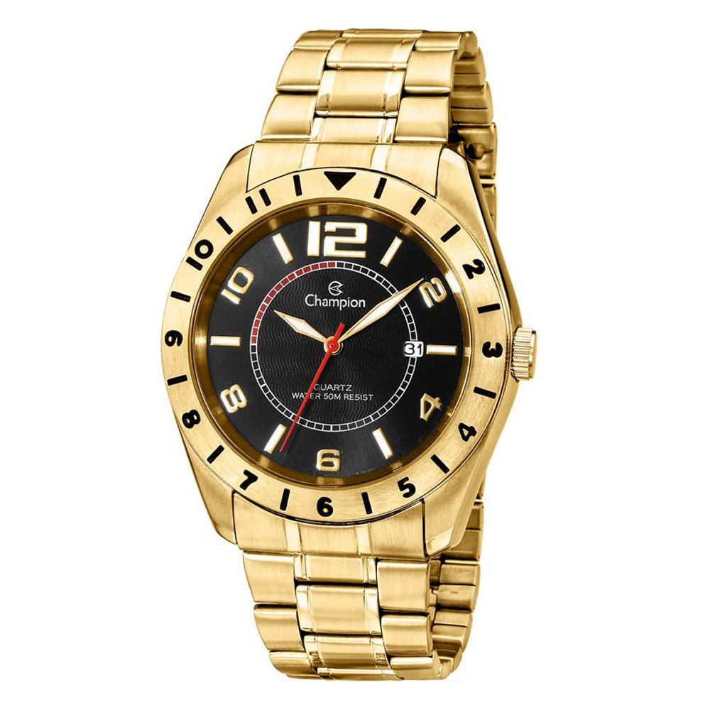 Relógio Champion Masculino Dourado CA30187X