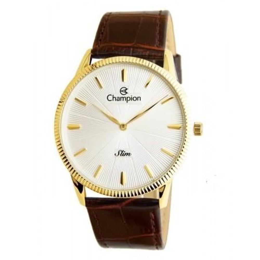 Relógio Champion Masculino Dourado Slim CA21820S