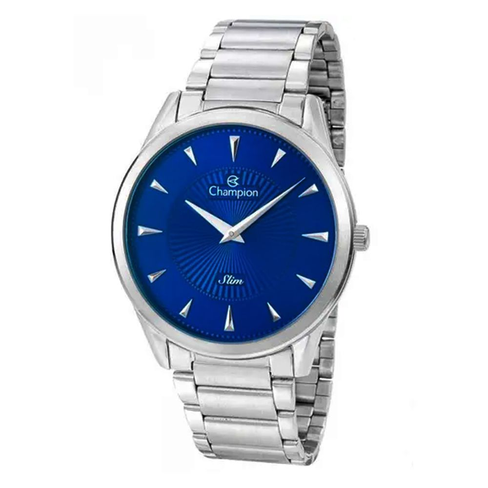 Relógio Champion Masculino Prateado Slim CA21768F