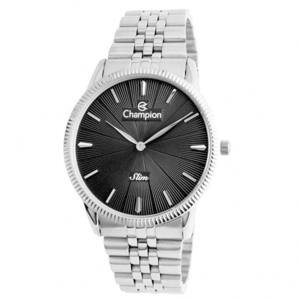 Relógio Champion Masculino Prateado Slim CA21820D