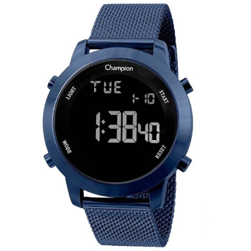 Relógio Champion Masculino Preto Fundo Negativo CH40062A